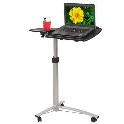 adjustable height computer laptop table rolling sit