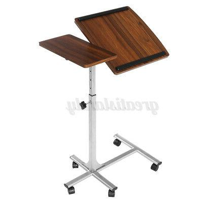 Adjustable Height Laptop Table Desk Rolling Workstation