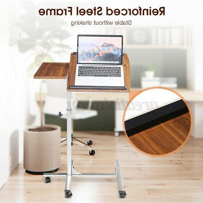 Adjustable Height Up Laptop Table Lift Computer Desk Rolling