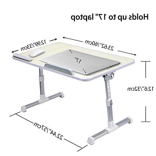 Adjustable Bed Table, Portable Standing Desk, Foldable Tray, Stand Holder Couch Kids -