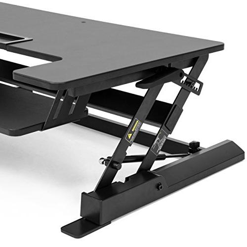 Best Products 2-Tier Workstation w/ 8 33lb Tabletop, Black