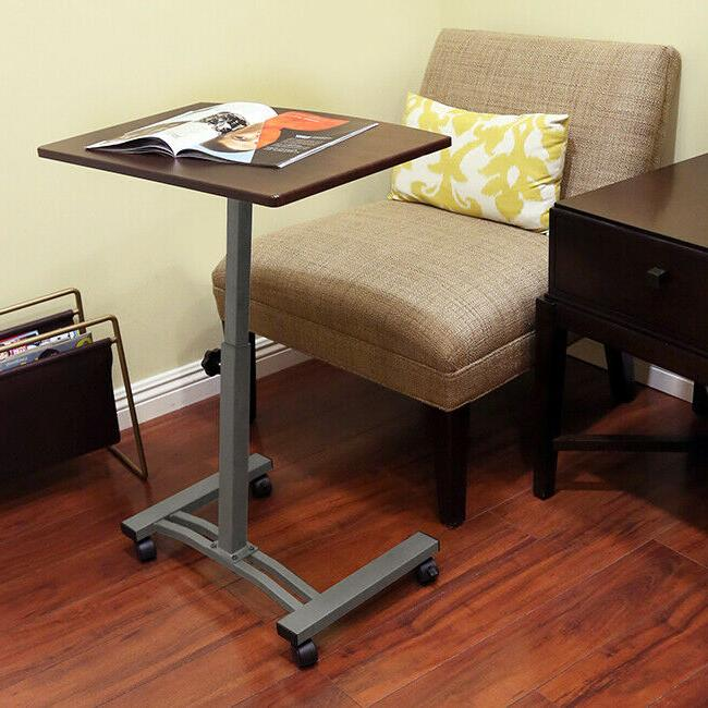 SEVILLE CLASSICS AIRLIFT MOBILE LAPTOP COMPUTER DESK HEIGHT-ADJUSTABLE