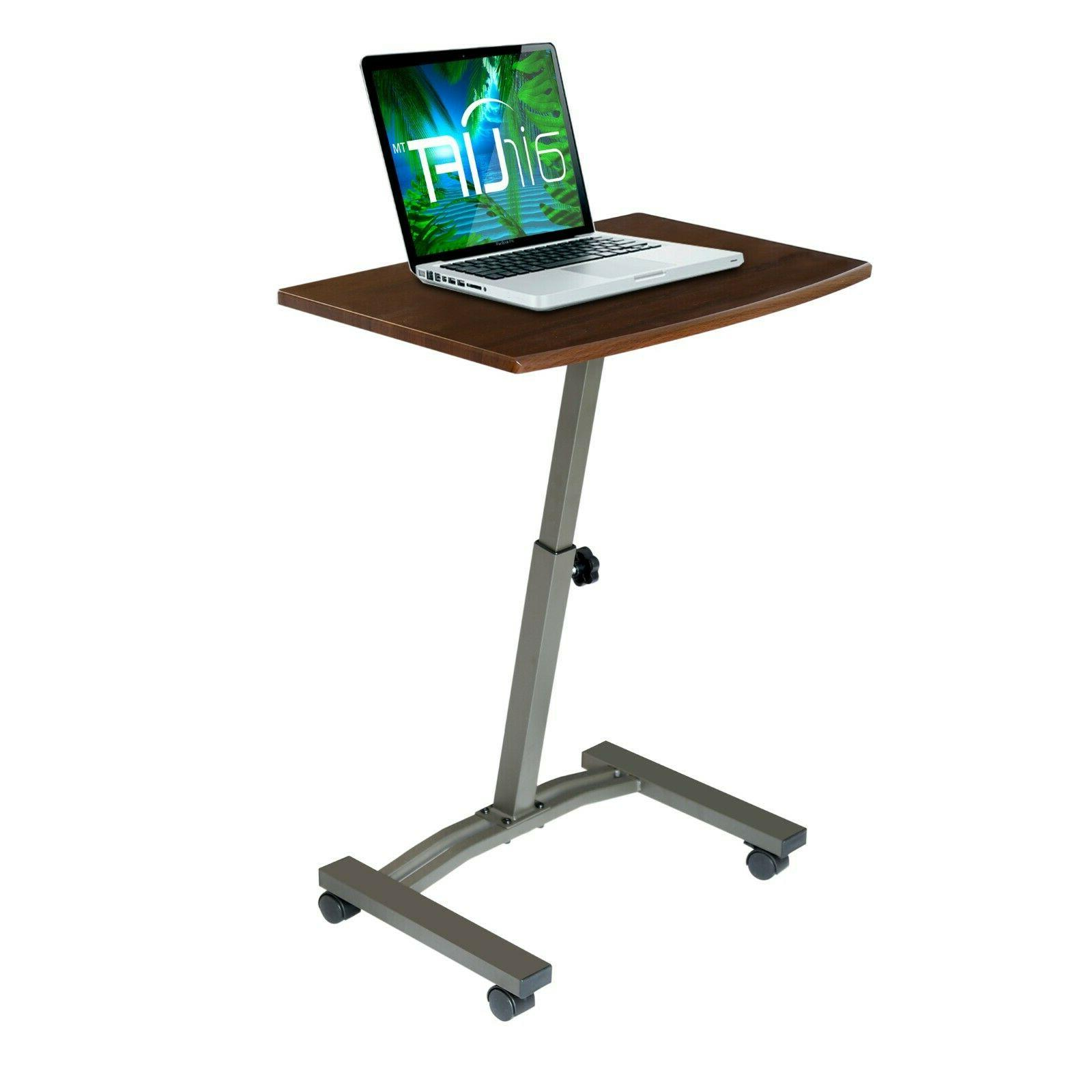 airlift mobile laptop computer desk cart height