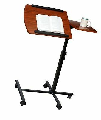 OneSpace Angle Adjustable Mobile Desk, Dual Surfac...