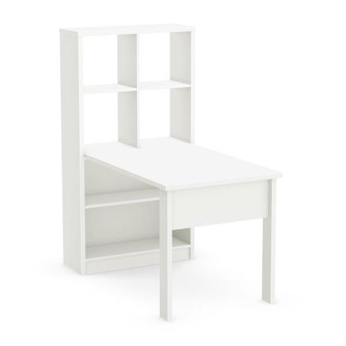 South Annexe Work Table/Storage Unit Combo , White