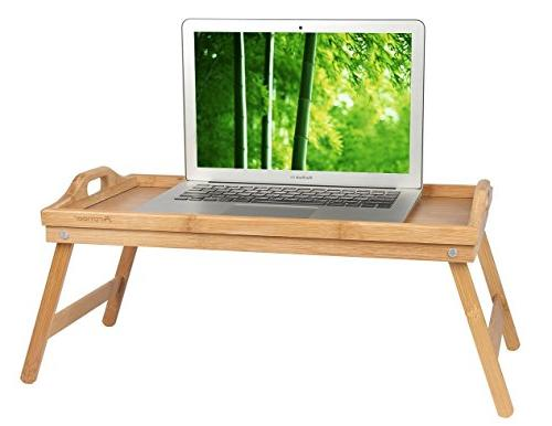 Bed Table Folding Legs,Serving in Bed or Use a TV Table, Computer Tray, by
