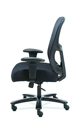 Sadie Big and Office Chair, Adjustable Arms with Lumbar, Black