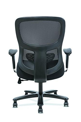 Sadie and Office Computer Chair, Height Adjustable Lumbar, Black