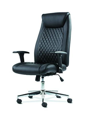 basyx executive computer chair leather