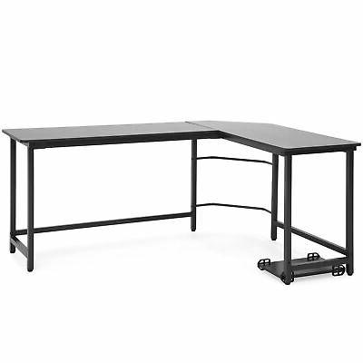 BCP L-Shaped Computer Table Workstation w/ CPU