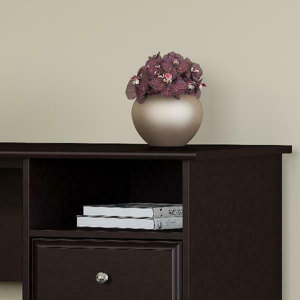 Bush Furniture L Shaped With Drawers In Oak