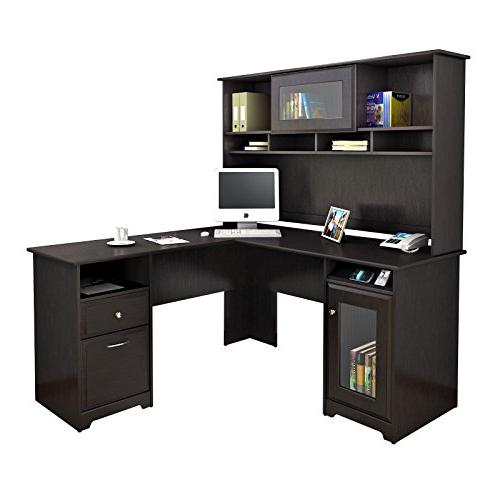 Bush Cabot Computer Desk with in Espresso Oak