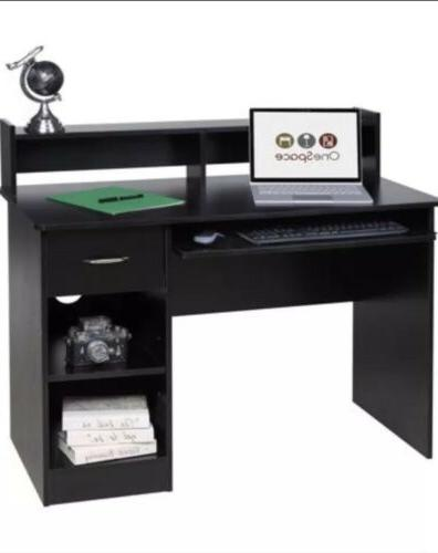 comfort products essential computer desk hutch pull