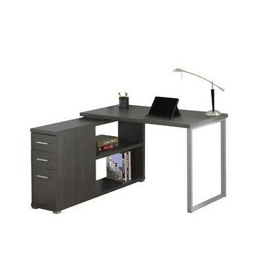 Monarch Computer Desk, Grey
