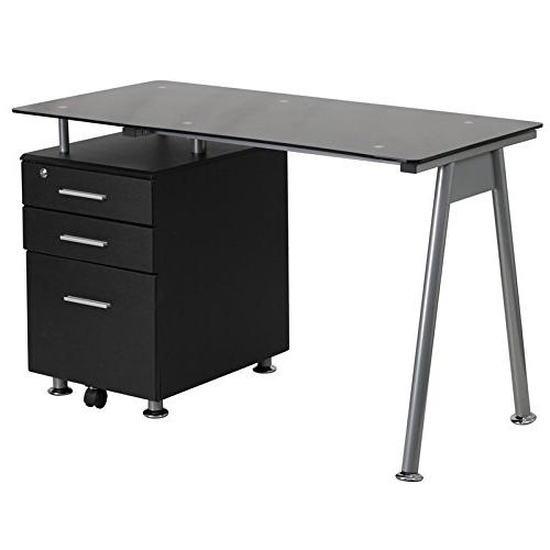 Flash Furniture Computer Desk with 3 Drawer Pedestal
