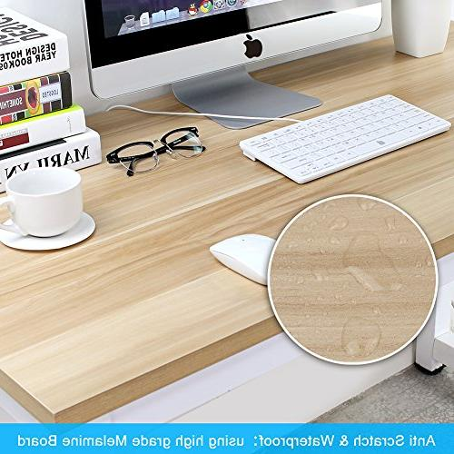 Tribesigns Computer Large Office Desk Table Desk for Home +