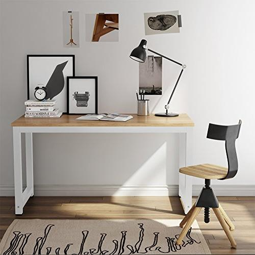 Tribesigns Large Office Desk Table for Home + Leg