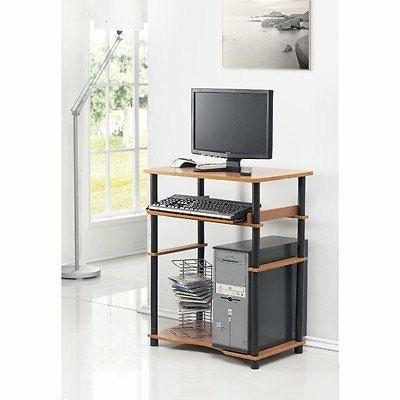 Furinno Computer 29.70 Height Width 15.50 Depth - Assembly - Black, Particleboard,
