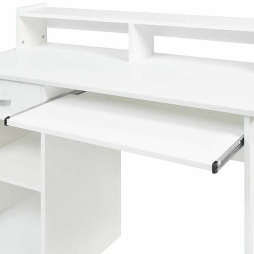 Home Computer Workstation Laptop Table Drawer Keyboard Tray