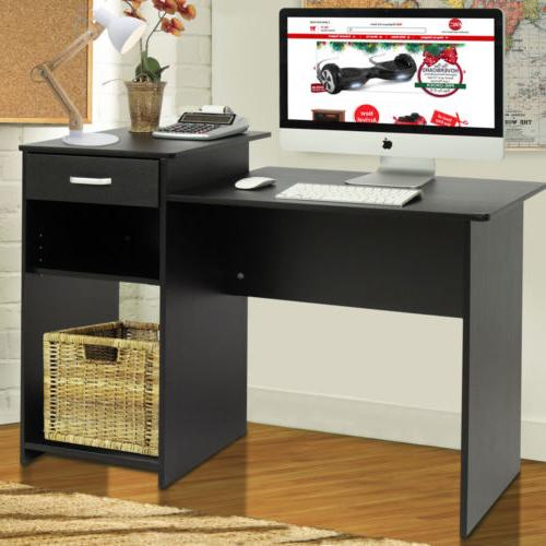 computer desk home office wood laptop table