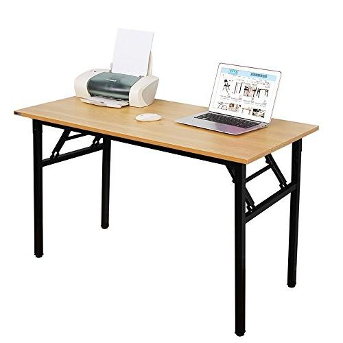 "Need 47"" Folding Computer Table Workstation Black"