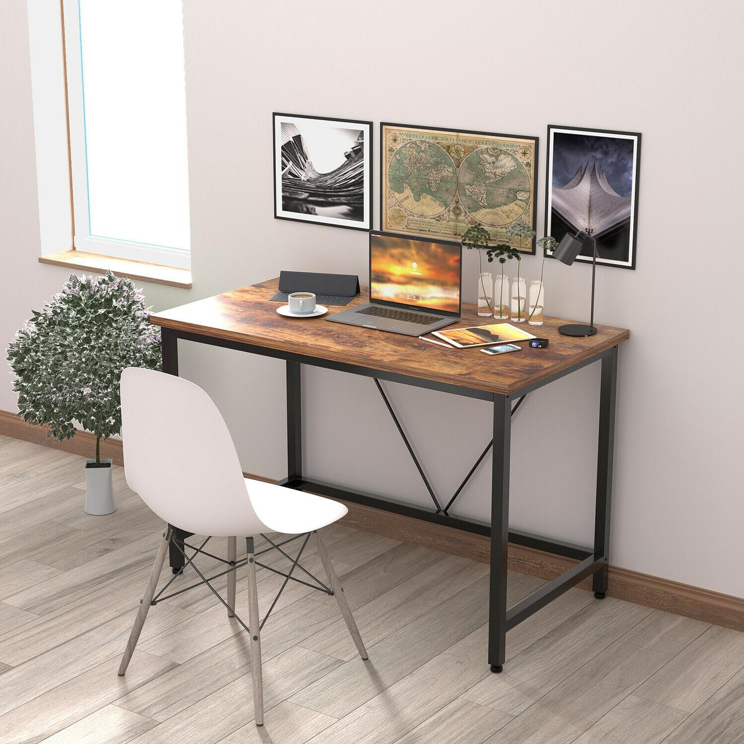 Computer PC Table Workstation Wood Home Furniture