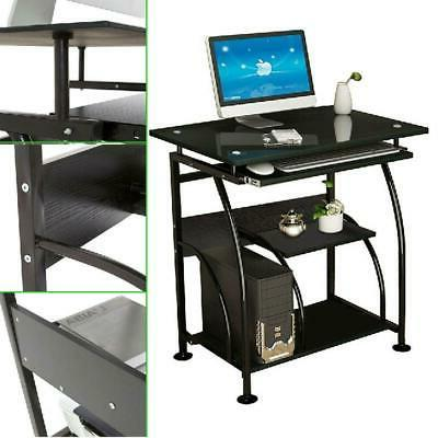 Computer Tempered Glass Table Workstation Office