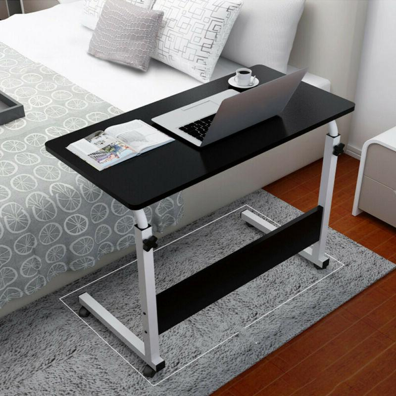 Mobile Bed Side Table Adjustable Laptop Stand Portable Compu