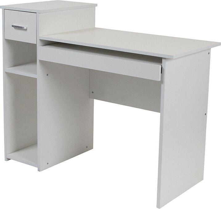 computer desk with shelves and drawer in