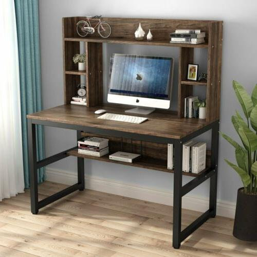 Computer Desk Study Table Workstation with Hutch for Home Of