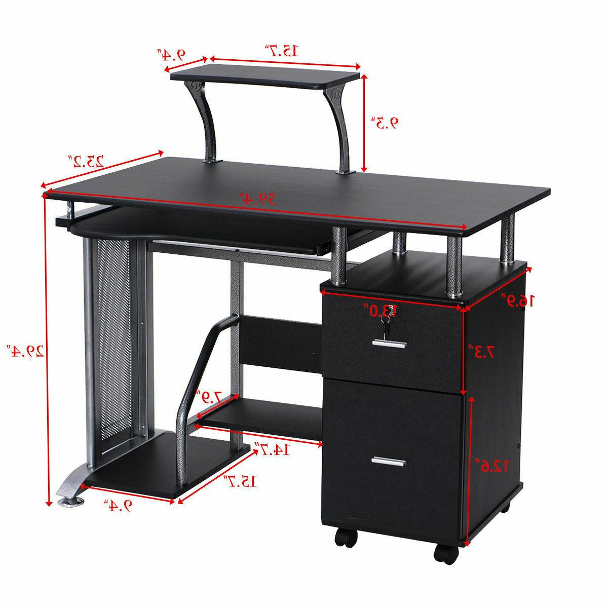 Computer w/ Shelf PC Table
