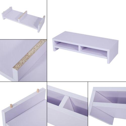 Computer Table LED TV Stand Shelf Drawer