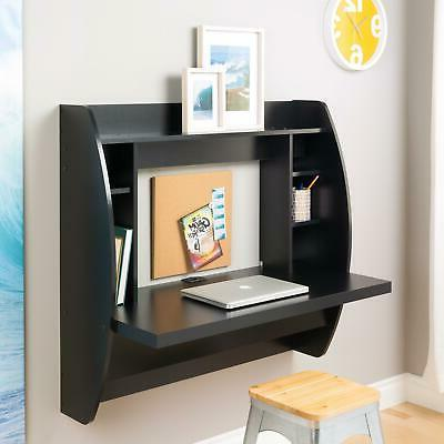 coner desk floating wall mounted computer laptop