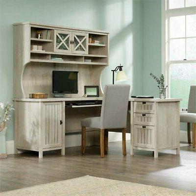 costa l shaped computer desk with hutch