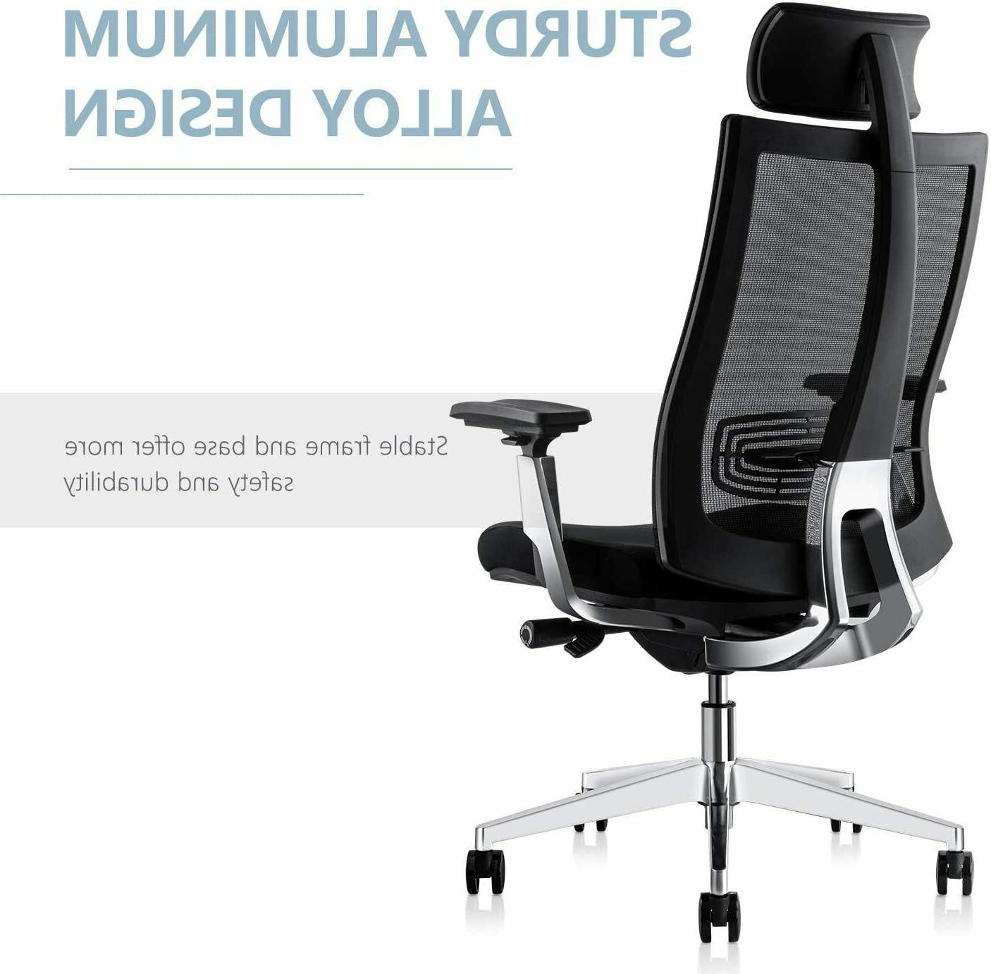 Ergonomic Adjustable Chair, Desk Chair with Lumbar Support