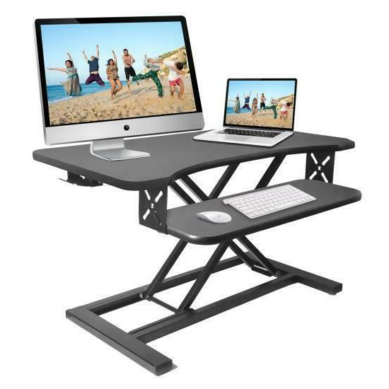 ergonomic standing desk monitor riser