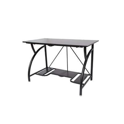 foldable computer desk black