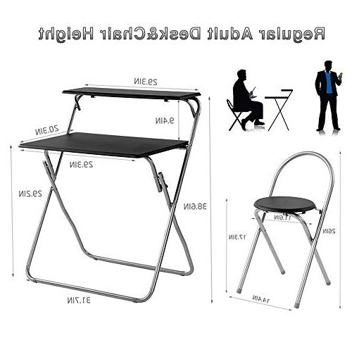 """Aingoo Chair 30"""" Writing Table for Office/Teens Space Mobile Workstation with Shelves"""