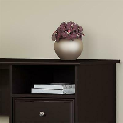 Bush Furniture Cabot L Computer with Drawers Oak