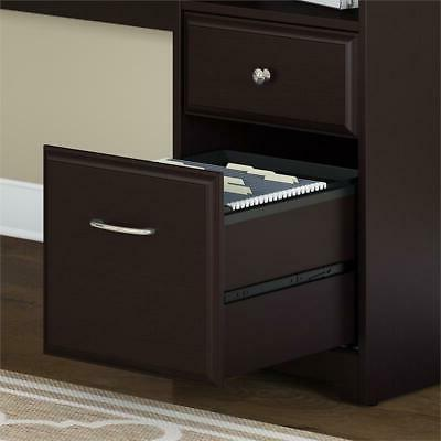 Bush Furniture L Shaped Computer with Drawers Oak