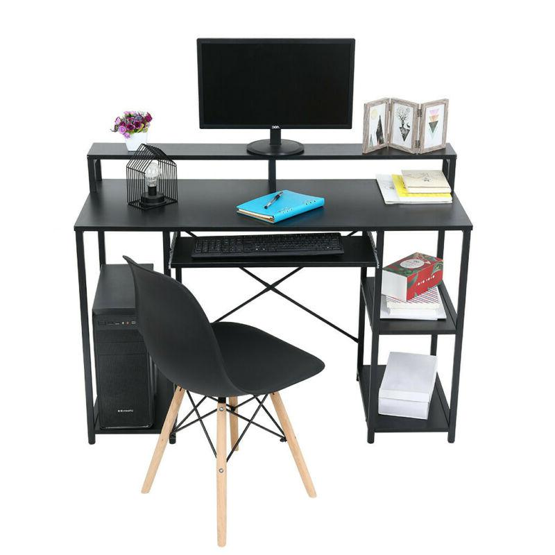 Gaming Table Workstation Home Laptop w/TV Monitor Stand