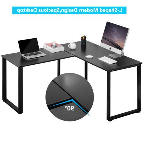 Gaming Coner Laptop Desk L-shape Computer Home