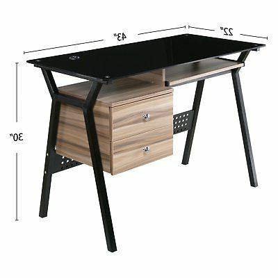 with Drawers and Keyboard Tray