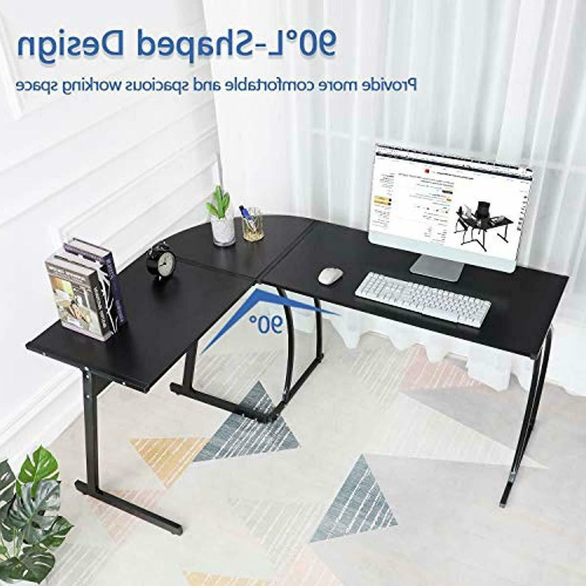 GreenForest L-Shaped Corner Desk Computer Gaming Table,Home Office New