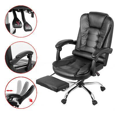 High Back Leather Executive Office Chair Desk Task Computer