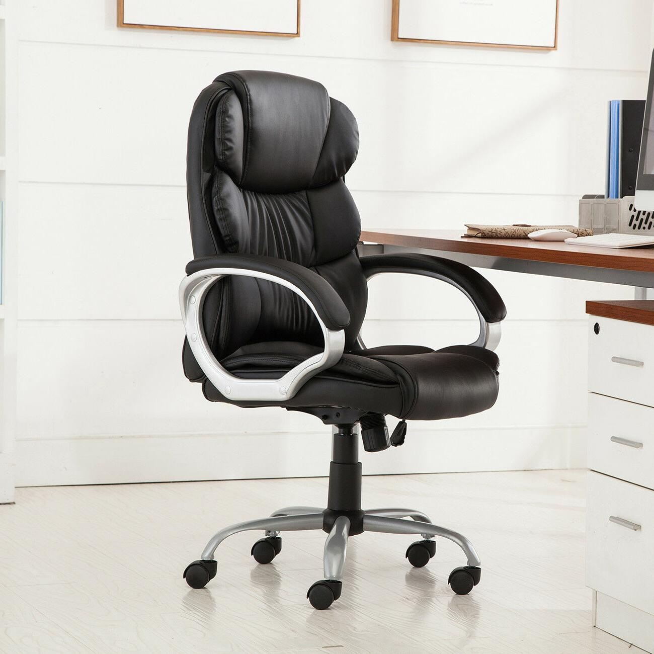 High Back PU Leather Executive Office Desk Task Computer bos