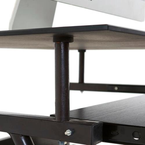 Home Office Workstation Black