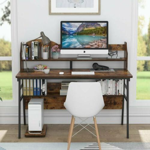 Tribesigns Computer Working Study Desk w Storage Shelf 47/55