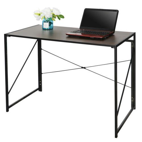 Home Office Computer Desk Writing Industrial Style Folding