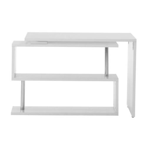 Home Computer Desk Workstation Table w/Storage Shelves
